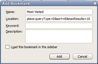 places query firefox