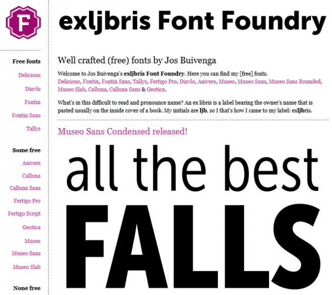 free fonts screenshots