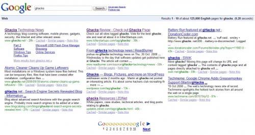 google multi-column view