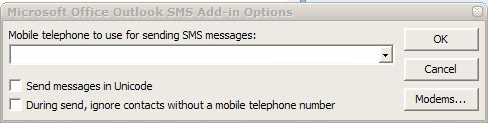 microsoft outlook sms add-in