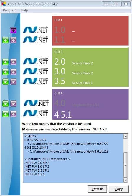 net version detector