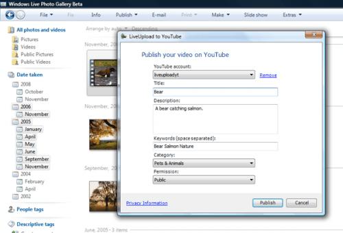 windows live youtube