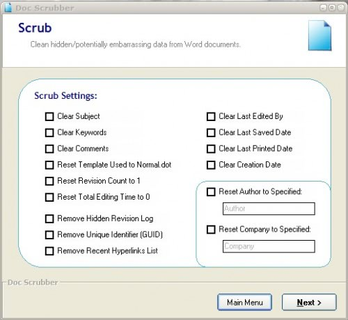 word metadata scrubber