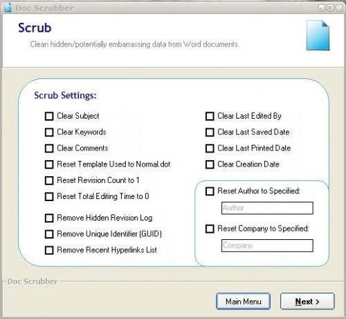 word metadata scrubber