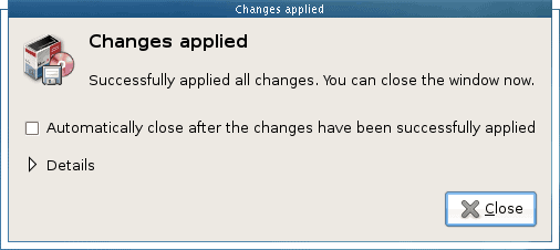 Changes applied