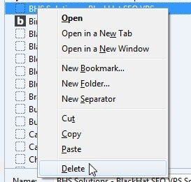 delete bookmarks