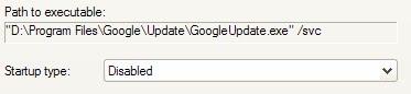 googleupdate startup