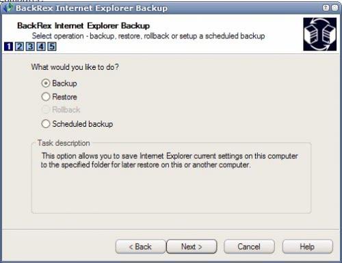 internet explorer backup