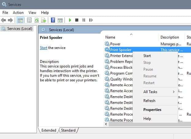 print spooler service