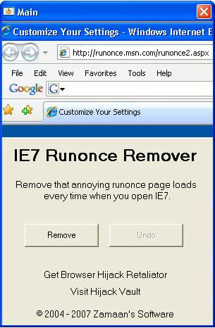 runonce remover