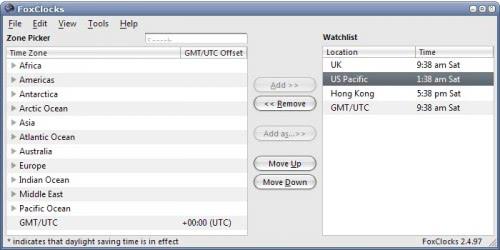 timezones email client