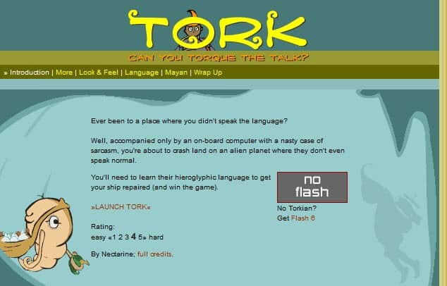 Learn an alien language with Tork