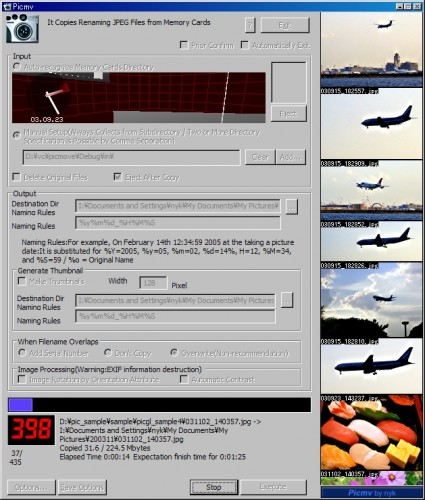 digital camera software picmv