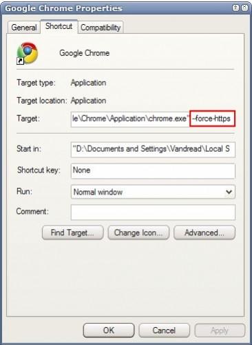 google chrome force ssl
