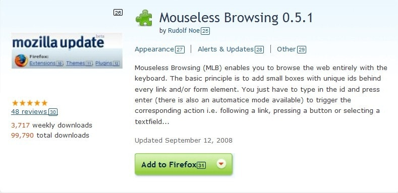 mouseless browsing