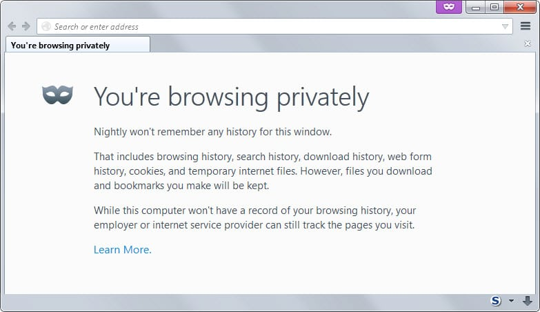 private browsing mode