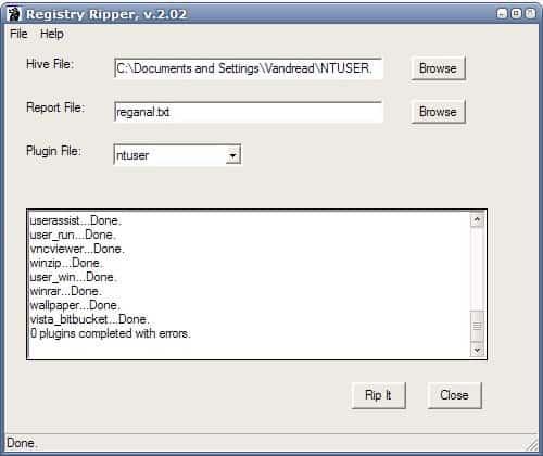 registry analyzer