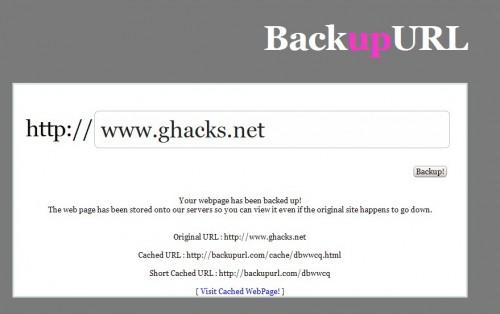 backup url