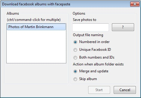 facebook album downloader