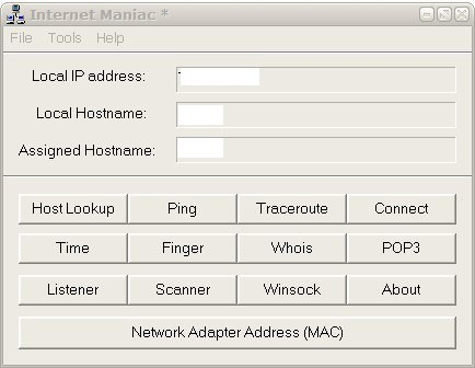 internet maniac networking software