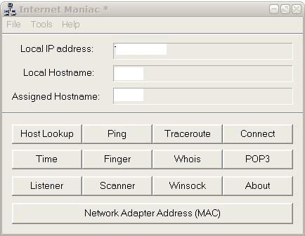 internet maniac networking software