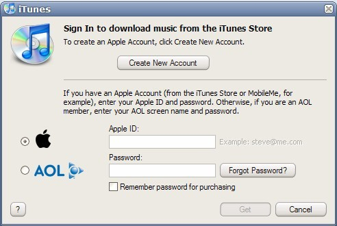 itunes account