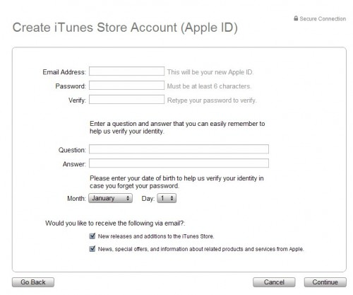 itunes store account