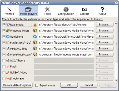 media player connectivity