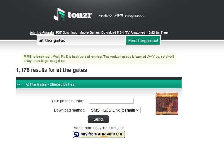 Free Ringtones search engine