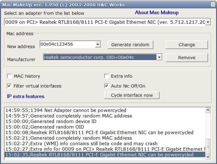 Mac Address Changer Ghacks Tech News