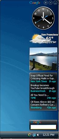 GoogleSidebar Vista