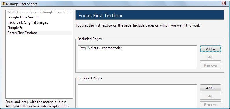 focus first textbox