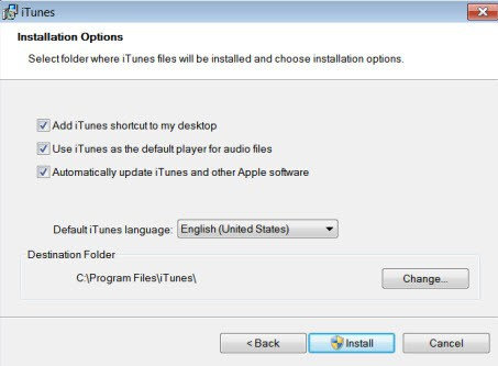 itunes installation