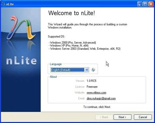 Create an automated XP install with nlite