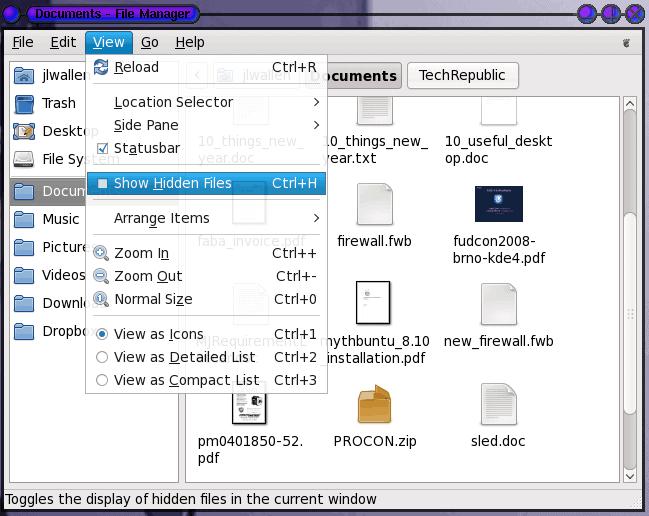 Linux Tips: View hidden files - gHacks Tech News