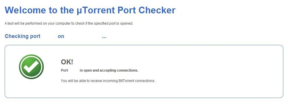 utorrent port checker