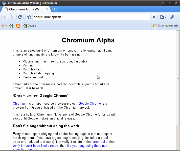 Google Browser Chromium Alpha For Linux