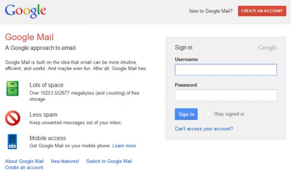 google mail login