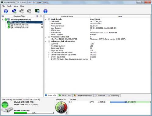hard drive health monitoring