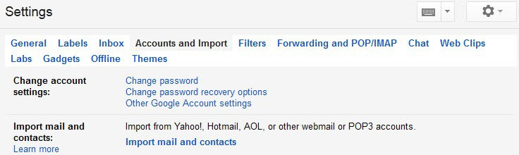 Gmail Adds Email Import option for third-party email providers