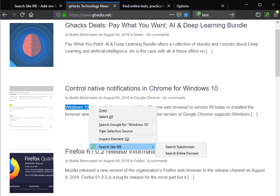 search site firefox