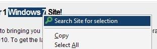 search web sites