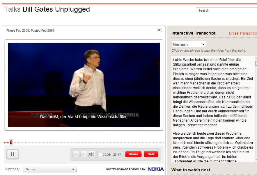 ted talks translations