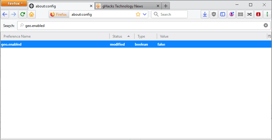 firefox geolocation disabled
