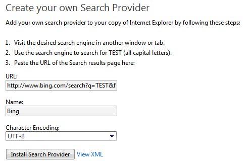 internet explorer bing