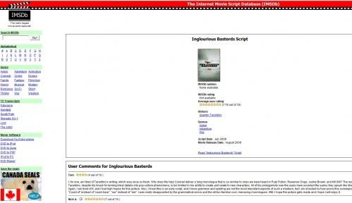 internet movie script database