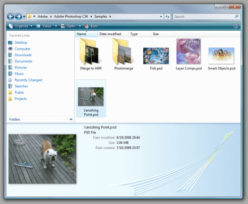 View Photoshop PSD thumbnails in Windows Explorer