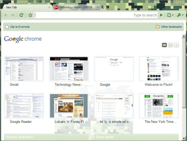 google chrome camo theme