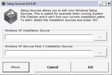 windows setup source
