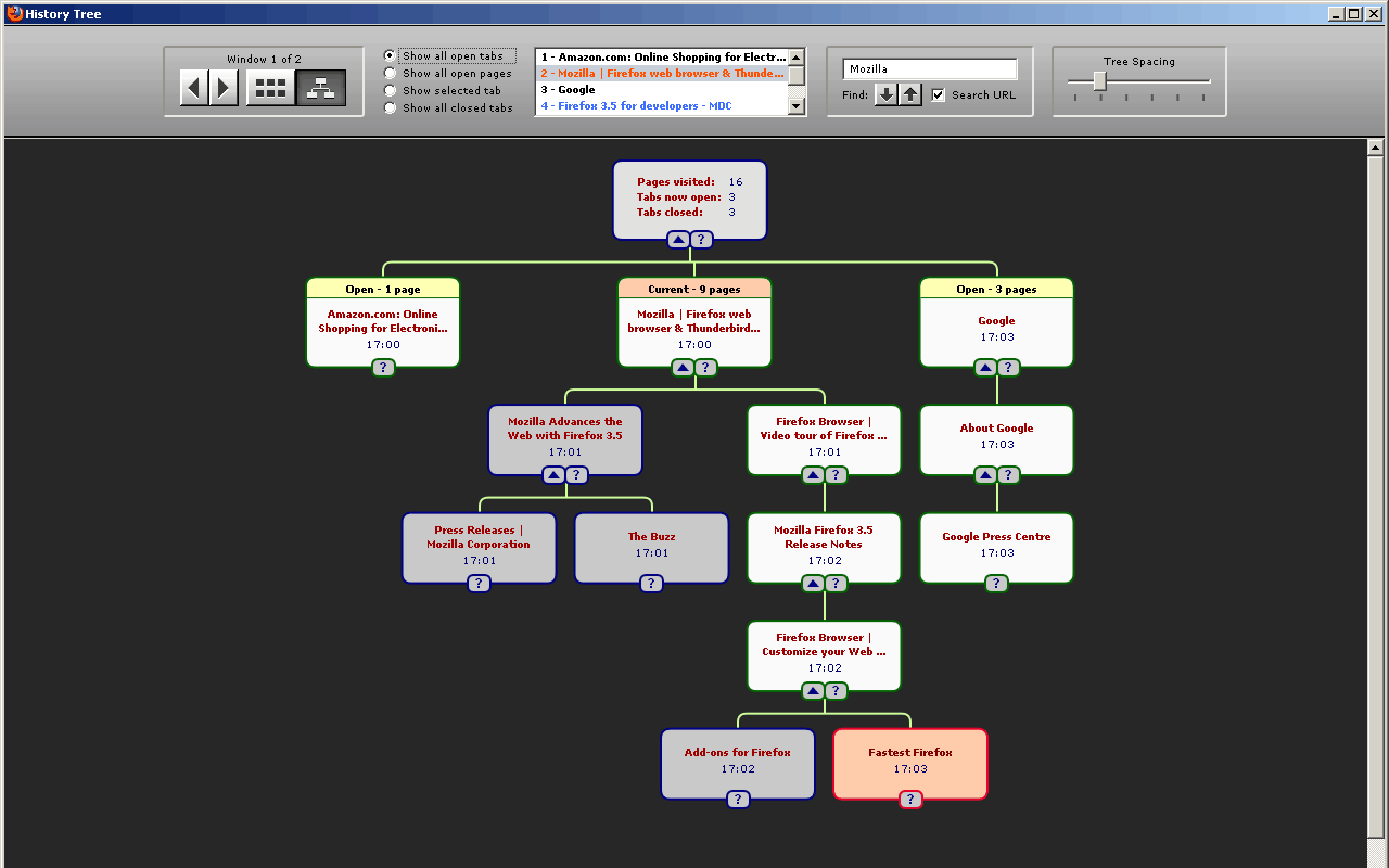 firefox history